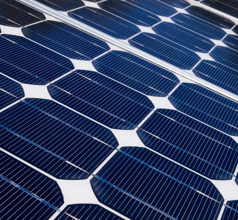 Solar panel is generating electricity to help against global warming